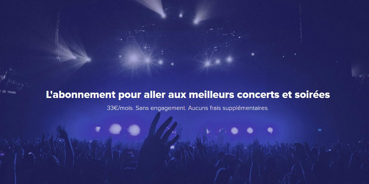Pass concert illimité : Guest Me